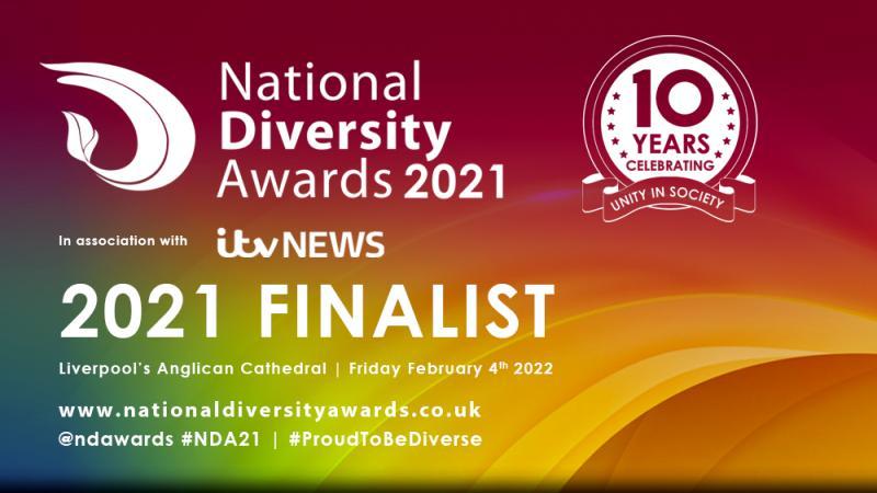 National Diversity Awards 2021 finalist