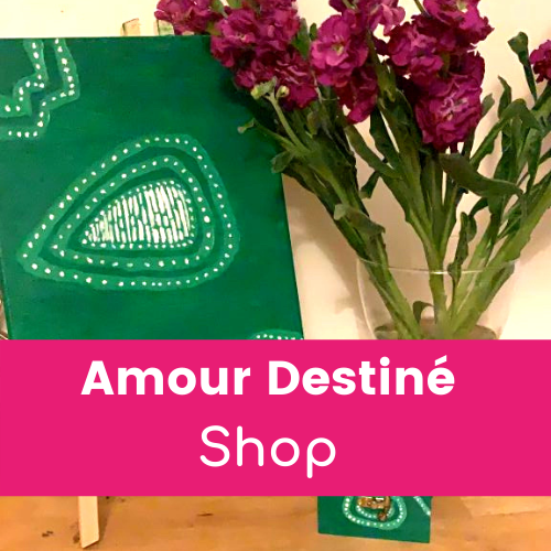 Amour Destiné Shop - wellbeing box, Africa canvas and flowers